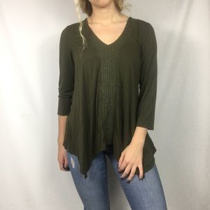 Adrianna Papell Olive green blouse